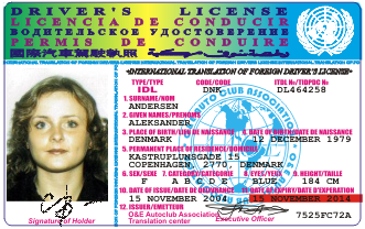 international drivers license plastic card with hologram protection